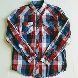 Old Navy Western Fit Plaid Button Down